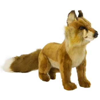 Handcrafted 20 Inch Lifelike Sitting Red Fox Stuffed Animal by Hansa