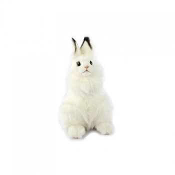 Handcrafted 9 Inch Lifelike White Bunny Stuffed Animal by Hansa