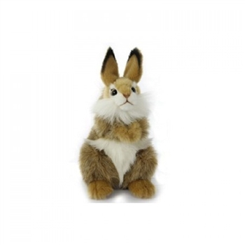 Handcrafted 9 Inch Lifelike Brown Bunny Stuffed Animal by Hansa