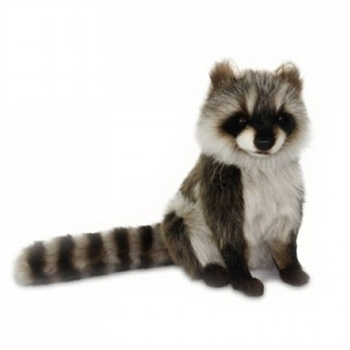 Handcrafted 12 Inch Lifelike Raccoon Stuffed Animal by Hansa