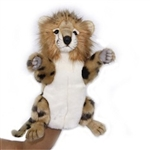 Handcrafted 12 Inch Lifelike Full-Body Cheetah Puppet by Hansa