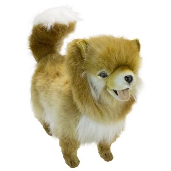 Handrafted 25 Inch Lifelike Standing Pomeranian Stuffed Animal by Hansa