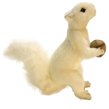 Handcrafted 7 Inch Lifelike White Squirrel Stuffed Animal by Hansa