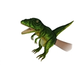 Handcrafted 19 Inch Lifelike Green T-Rex Puppet by Hansa