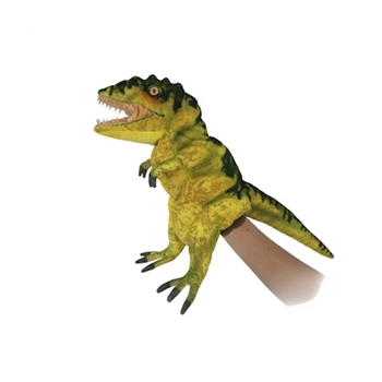 Handcrafted 19 Inch Lifelike Full Body Yellow T-Rex Puppet by Hansa