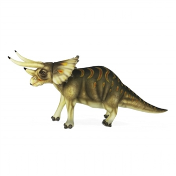 Handcrafted 50 Inch Lifelike Triceratops Stuffed Animal by Hansa