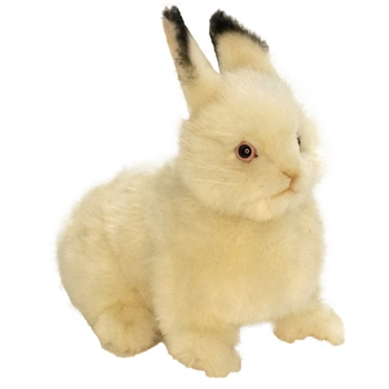 Handcrafted 9 Inch Lifelike Cream Bunny Stuffed Animal by Hansa