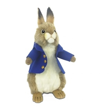 Handcrafted 13 Inch Lifelike Rabbit with Jacket Stuffed Animal by Hansa