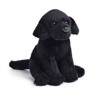 Small Sitting Stuffed Black Lab by Nat and Jules