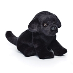 Lifelike Stuffed Black Lab Puppy by Nat and Jules