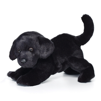 Lifelike Black Lab Stuffed Animal by Nat and Jules