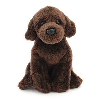 Small Sitting Stuffed Chocolate Lab by Nat and Jules