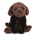 Lifelike Chocolate Lab Stuffed Animal by Nat and Jules