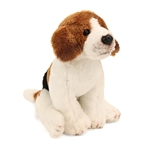 Small Sitting Stuffed Beagle by Nat and Jules