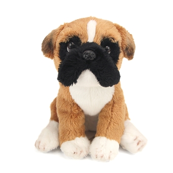 Small Sitting Stuffed Boxer by Nat and Jules