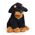 Small Sitting Stuffed Rottweiler by Nat and Jules