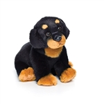 Lifelike Stuffed Rottweiler Puppy by Nat and Jules
