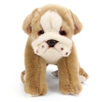 Lifelike Bulldog Stuffed Animal by Nat and Jules