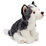 Lifelike Stuffed Husky Puppy by Nat and Jules