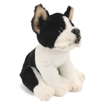 Small Sitting Stuffed Boston Terrier by Nat and Jules