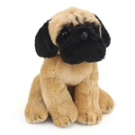 Small Sitting Stuffed Pug by Nat and Jules