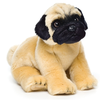 stuffed animal pug lifelike stuffed pug puppy nat jules stuffed safari 4520