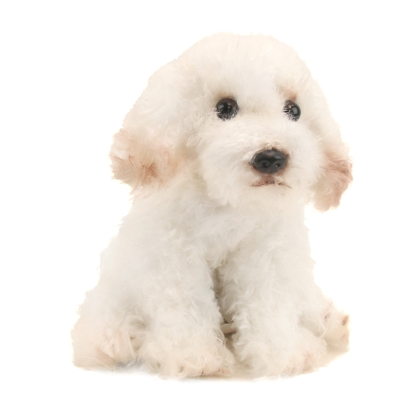 small sitting stuffed bichon frise nat jules stuffed safari