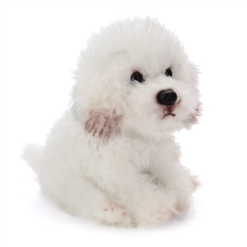 Lifelike Stuffed Bichon Frise Puppy by Nat and Jules