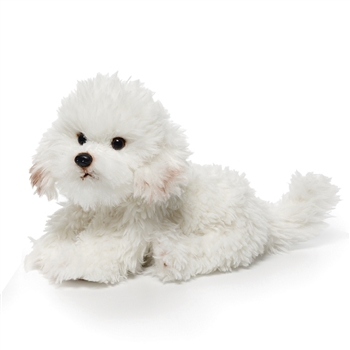 Lifelike Bichon Frise Stuffed Animal by Nat and Jules