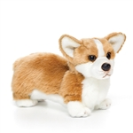 Lifelike Stuffed Corgi Puppy by Nat and Jules