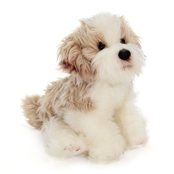 Lifelike Stuffed Maltipoo Puppy by Nat and Jules