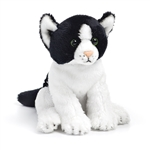 Small Sitting Stuffed Black and White Cat by Nat and Jules