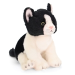 Lifelike Stuffed Black and White Kitten by Nat and Jules