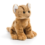 Small Sitting Stuffed Orange Tabby Cat by Nat and Jules