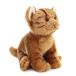 Lifelike Stuffed Orange Tabby Kitten by Nat and Jules