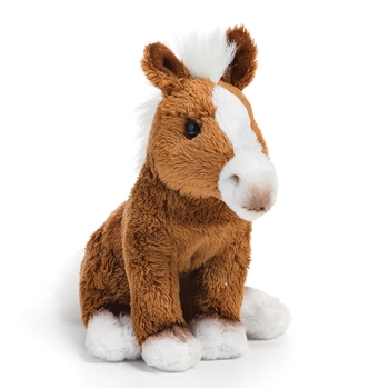 Small Sitting Stuffed Horse by Nat and Jules