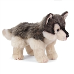 Lifelike Wolf Stuffed Animal by Nat and Jules