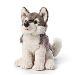 Small Sitting Stuffed Wolf by Nat and Jules