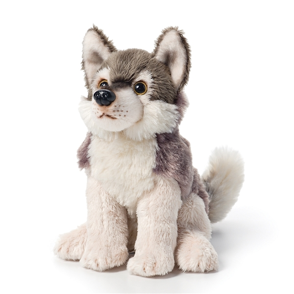 Small Sitting Stuffed Wolf Nat Jules Stuffed Safari