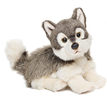 Lifelike Stuffed Wolf Cub by Nat and Jules