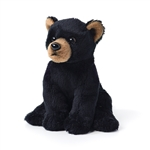 Small Sitting Stuffed Black Bear by Nat and Jules