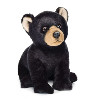 Lifelike Stuffed Black Bear Cub by Nat and Jules