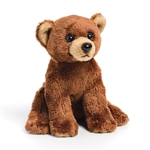 Small Sitting Stuffed Brown Bear by Nat and Jules