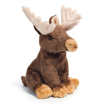 Small Sitting Stuffed Moose by Nat and Jules