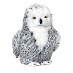 Lifelike Snowy Owl Stuffed Animal by Nat and Jules