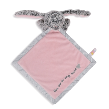 Luxurious Baby Isabella the Bunny Plush Rattle Blanket by Demdaco