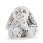 Luxurious Baby Plush Blue Elephant Rattle by Demdaco