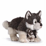 Lifelike Mother Wolf and Cub Stuffed Animal by Nat and Jules