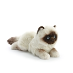 Lifelike Siamese Cat Stuffed Animal by Nat and Jules