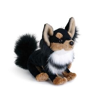 Lifelike Stuffed Long-haired Chihuahua Puppy by Nat and Jules